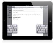 iOS 5 apporte enfin un clavier scindé àl'IPAD